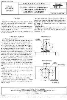 """Badania materiałów posadzkowych - Oznaczanie ścieralności aparatem """"Stuttgart"""" BN-63/6701-01"""