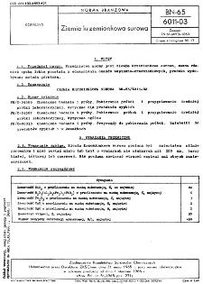 Ziemia krzemionkowa surowa BN-65/6011-03