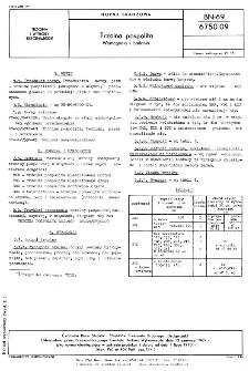 Trzcina pospolita - Wymagania i badania BN-69/6750-09