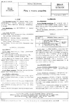 Płyty z trzciny pospolitej - BN-69/6756-04