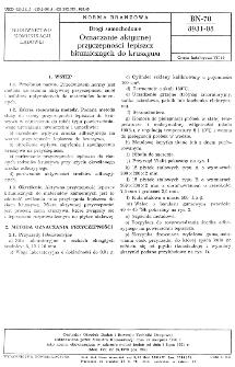 Drogi samochodowe - Oznaczenie aktywnej przyczepności lepiszcz bitumicznych do kruszywa BN-70/8931-08