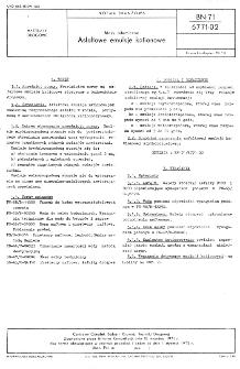 Masy bitumiczne - Asfaltowe emulsje kationowe BN-71/6771-02