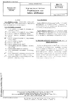 Drogi samochodowe i lotniskowe - Projektowanie mas betonu asfaltowego BN-73/6771-03