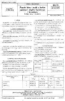 Popioły lotne i żużle z kotłów opalanych węglem kamiennym i brunatnym - Podział, nazwy i określenia BN-79/6722-09