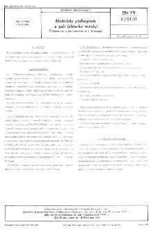 Matieriały podłogowe z poli (chlorku winylu) - Pakowanie, przechowywanie i transport BN-79/6781-01
