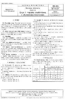 Surowce mmineralne - Skalenie - Grys i mączka skaleniowa i skaleniowo-kwarcowa BN-83/6714-01