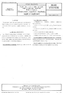 Popioły lotne i żużle z kotłów opalanych węglem kamiennym i brunatnym - Badania chemiczne - Oznaczanie zawartości dwutlenku węgla w węglanach BN-83/6722-10.06