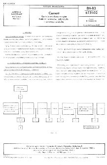 Cement - Kontrola międzyoperacyjna - Badanie surowców, półproduktu i gotowego produktu BN-83/6731-02