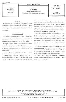 Cement - Kontrola międzyoperacyjna - Metody analizy chemicznej surowców BN-83/6731-15