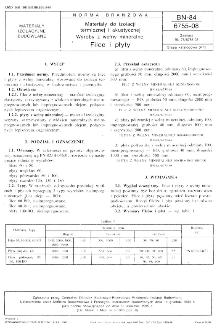 Materiały do izolacji termicznej i akustycznej - Wyroby z wełny mineralnej - Filce i płyty BN-84/6755-08