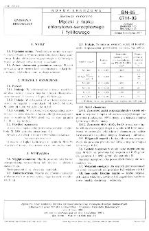 Surowce mineralne - Mączki z łupku chlorytowo-serycytowego i fyllitowego BN-85/6714-03