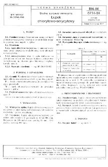 Skalne surowce mineralne - Łupek chlorytowo-serycytowy BN-86/6714-04