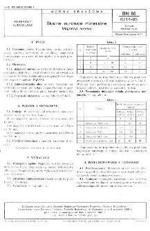 Skalne surowce mineralne - Magnezyt surowy BN-86/6714-05