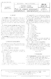 Elementy płytowe z kamienia naturalnego - Płyty do okładzin pionowych zewnętrznych i wewnętrznych BN-86/6747-10