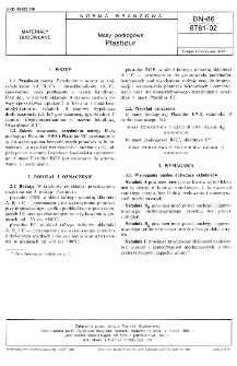 Masy podłogowe - Plastidur BN-86/6781-02