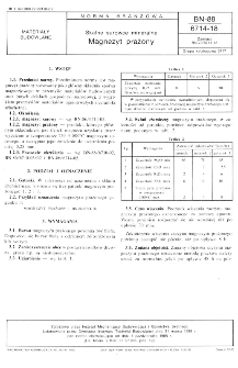 Skalne surowce mineralne - Magnezyt prażony BN-88/6714-18