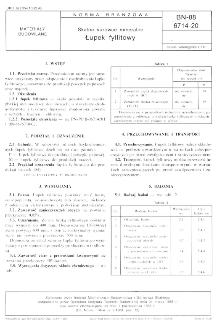 Skalne surowce mineralne - Łupek fyllitowy BN-88/6714-20