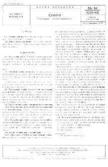 Cement - Transport i przechowywanie BN-88/6731-08