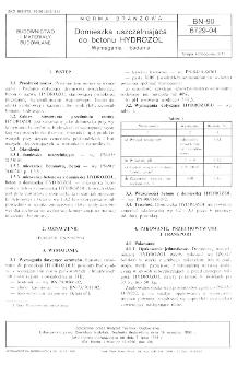 Domieszka uszczelniająca do betonu HYDROZOL - Wymagania i badania BN-90/6729-04