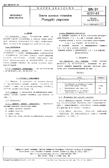 Skalne surowce mineralne - Posypki papowe BN-91/6727-01