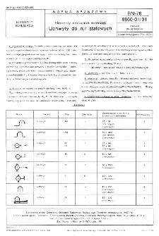 Elementy mocujące rurociągi - Uchwyty do rur stalowych BN-76/8860-01/01