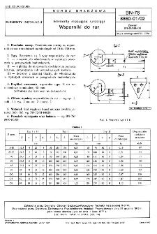 Elementy mocujące rurociągi - Wsporniki do rur BN-76/8860-01/02