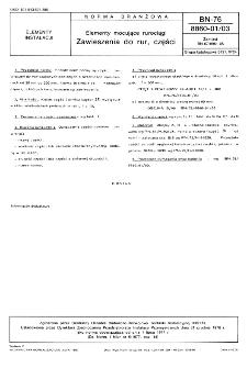 Elementy mocujące rurociągi - Zawieszenia do rur, części BN-76/8860-01/03