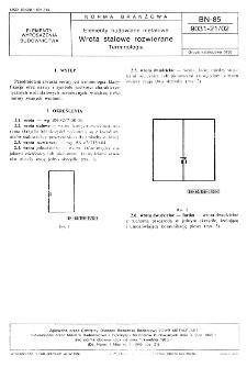 Elementy budowlane metalowe - Wrota stalowe rozwierane - Terminologia BN-85/9031-21/02