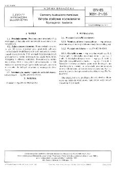Elementy budowlane metalowe - Wrota stalowe rozwierane - Wymagania i badania BN-85/9031-21/03