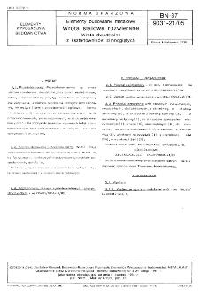 Elementy budowlane metalowe - Wrota stalowe rozwierane - Wrota dwudzielne z kształtowników zimnogiętych BN-87/9031-21/05