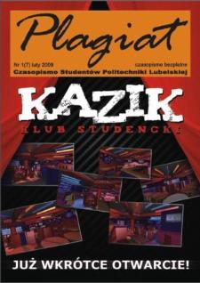 Plagiat : czasopismo Studentów Politechniki Lubelskiej nr 1(7) luty 2009