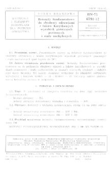 Betonity fundamentowe do obudowy odrzwiami z łuków korytkowych wyrobisk górniczych poziomych i mało nachylonych BN-75/6791-12
