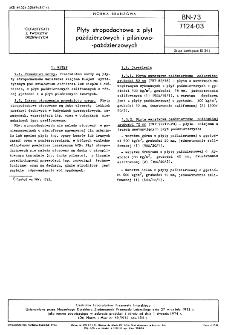 Płyty stropodachowe z płyt paździerzowych i pilśniowo-paździerzowych BN-73/7124-03