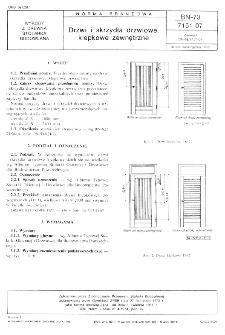 Drzwi i skrzydła drzwiowe, klepkowe zewnętrzne BN-73/7151-07