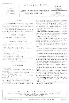 Drzwi drewniane płycinowe - Szczegóły konstrukcyjne BN-68/7151-04