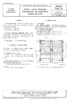 Drzwi i wrota klepkowe nieocieplone do budynków gospodarczych BN-89/7151-12