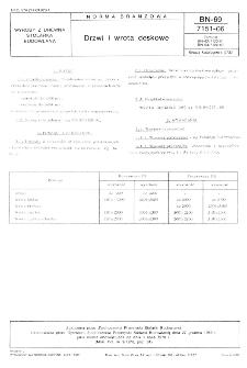 Drzwi i wrota deskowe BN-69/7151-06