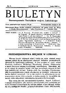 Biuletyn Stowarzyszenia Techników Wojew. Lubelskiego 1929 Nr 2