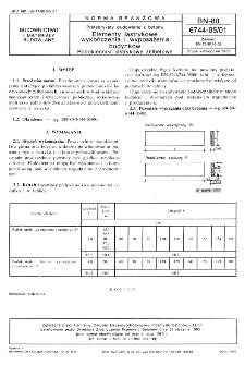 Prefabrykaty budowlane z betonu - Elementy lastrykowe wykończenia i wyposażenia budynków - Podokienniki lastrykowe żelbetowe BN-80/6744-05/01