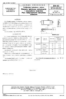 Prefabrykaty budowlane z betonu - Elementy lastrykowe wykończenia i wyposażenia budynków - Płyty nadgrzejnikowe lastrykowe żelbetowe BN-80/6744-05/02
