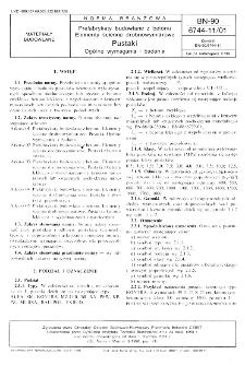 Prefabrykaty budowlane z betonu - Elementy ścienne drobnowymiarowe - Pustaki - Ogólne wymagania i badania BN-90/6744-11/01