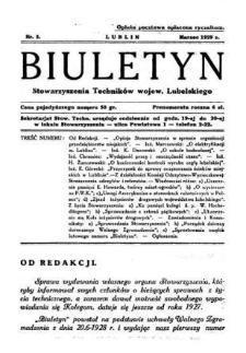 Biuletyn Stowarzyszenia Techników Wojew. Lubelskiego 1929 Nr 3