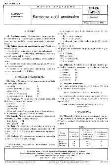 Kamienne znaki geodezyjne BN-86/6749-03