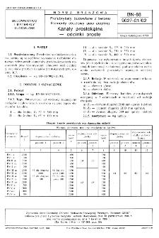 Prefabrykaty budowlane z betonu - Elementy obudowy sieci cieplnej - Kanały prostokątne - odcinki proste BN-88/9027-01/02