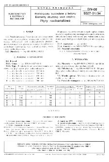Prefabrykaty budowlane z betonu - Elementy obudowy sieci cieplnej - Płyty nadkanałowe BN-88/9027-01/04