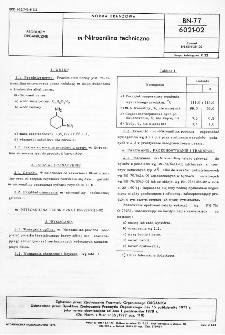 m-Nitroanilina techniczna BN-77/6021-02