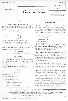 Półprodukty do barwników - p-Dwuchloronitrobenzen BN-76/6021-06