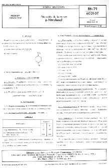Półprodukty do barwników - p-Nitrofenol BN-79/6021-07