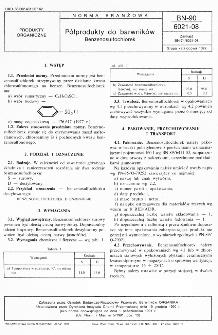 Półprodukty do barwników - Benzenosulfochlorek BN-90/6021-08