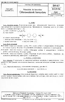 Półprodukty do barwników - Chlorowodorek benzydyny BN-67/6021-14